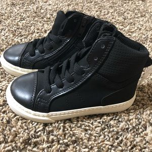 Baby Gap Faux Leather/Suede High Top Sneakers